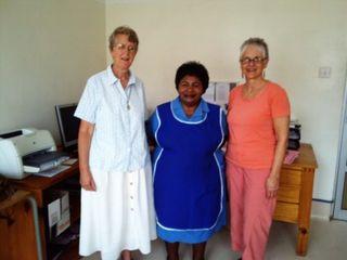 Venus Shamoya, Sister Kay O'Neil and Pat Rumer