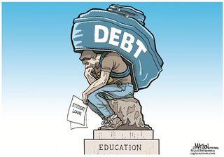 Thinker under debt