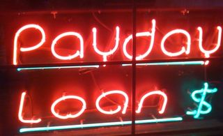 Neon payday sign